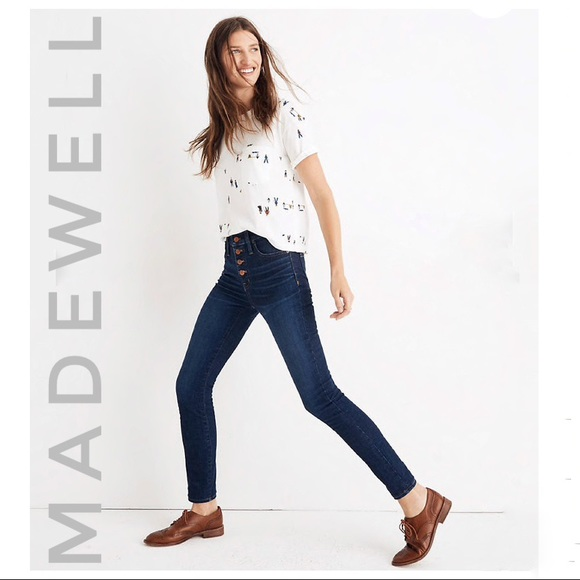Madewell Denim - MADEWELL High-rise Button front skinny jeans